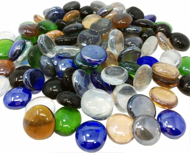 vanni obsession Pebbles Stone for Glass Filler, vase Fillers and Home Garden Decor( 1 KG )GLSSPBBLE-8 Polished Round Marble Pebbles