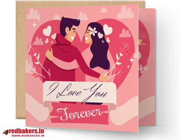redbakers.in I Love You Forever Greeting Card Greeting Card