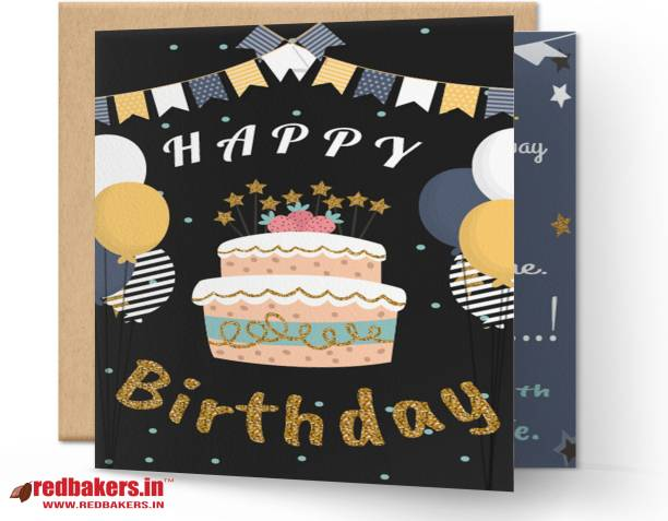 redbakers.in Happy BIrthday Beautiful Growth Greeting Card Greeting Card