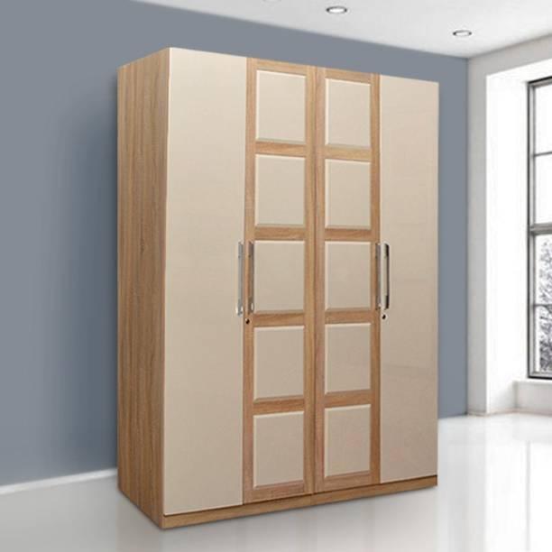 Hometown Geo Engineered Wood 4 Door Wardrobe