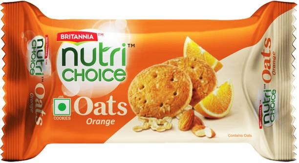 BRITANNIA NutriChoice Oats Cookies Orange Almond
