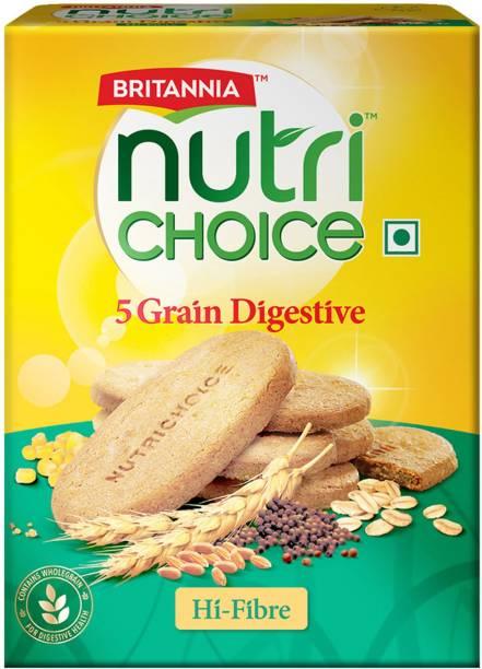 BRITANNIA NutriChoice 5 Grain Digestive High Fibre Multigrain Biscuits