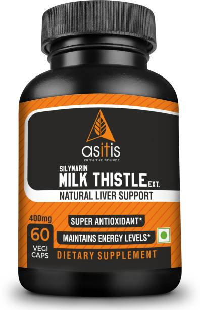 AS-IT-IS Nutrition Silymarin Milk Thistle 400mg - 60 capsules | Liver Health | Natural Detoxifier