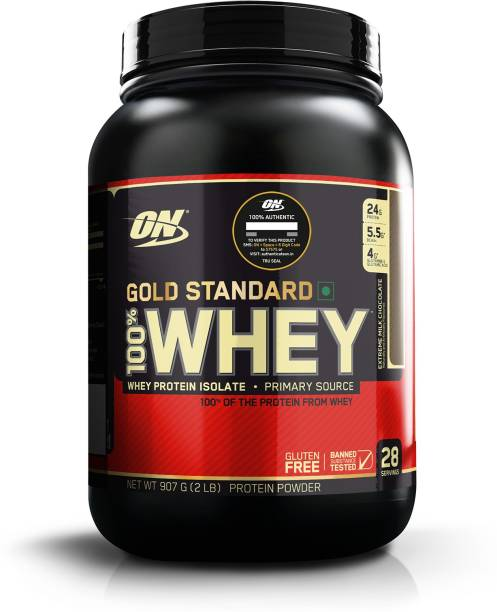 Optimum Nutrition (ON) Gold Standard 100% Protein Powder - Primary Source Isolate Whey Protein