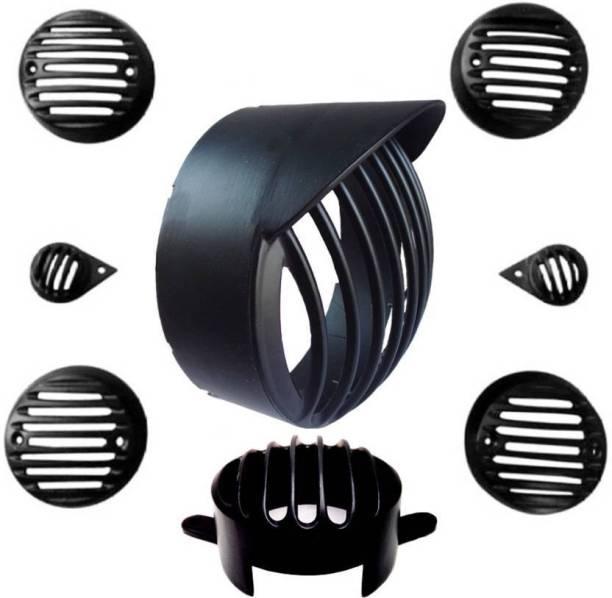 JCTEK 8) (Black) Bike Headlight Grill (Black) Bike Headlight Grill