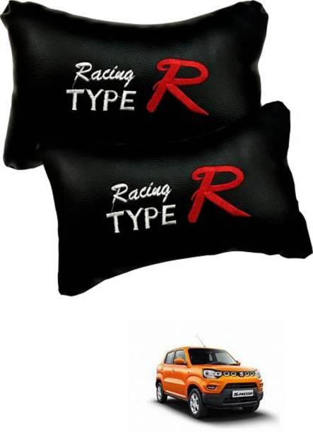 JVG Black Leather Car Pillow Cushion for Maruti Suzuki