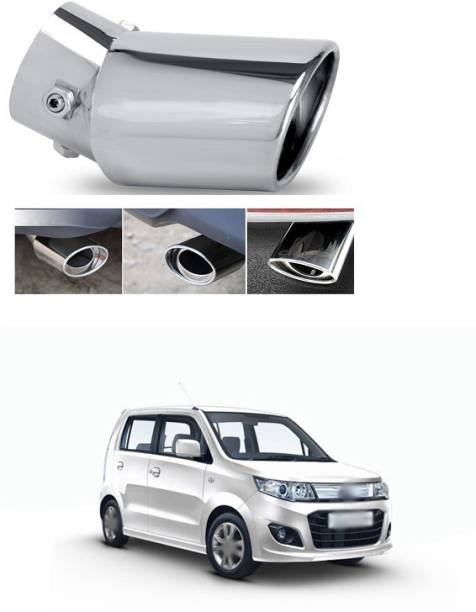PECUNIA Universal Stainless Steel Car Exhaust Tail Muffler Tip Pipes Fit Pipe - Fit Pipe Diameter 1.5 to 2.3 inch (Silver) V147  Car Silencer