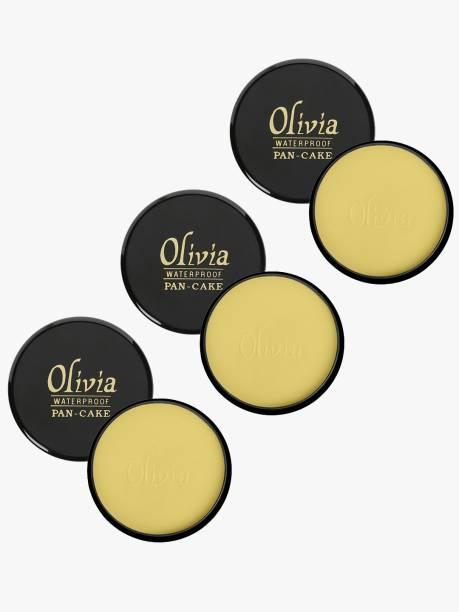 Olivia 100% Waterproof Pan Cake Concealer 25g Shade No. 21 - Pack of 3 Concealer