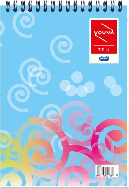 NAVNEET Youva Top Wiro Bound My Notes 14.8x21 cm Single Line Assorted Notebook Ruled 160 Pages