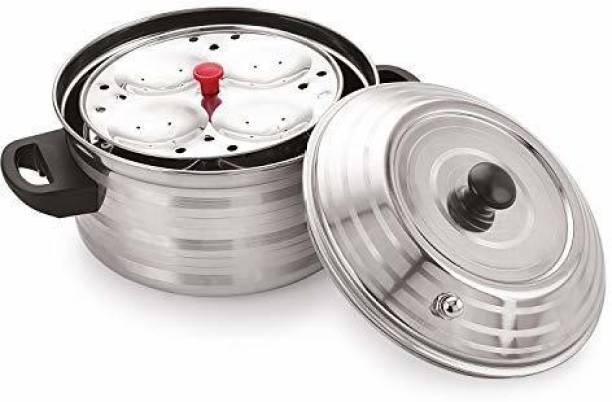 Flipkart SmartBuy 4-Plates Stainless Steel Idly Maker/Cooker (4-Plates, 16 Idli ) Induction & Standard Idli Maker