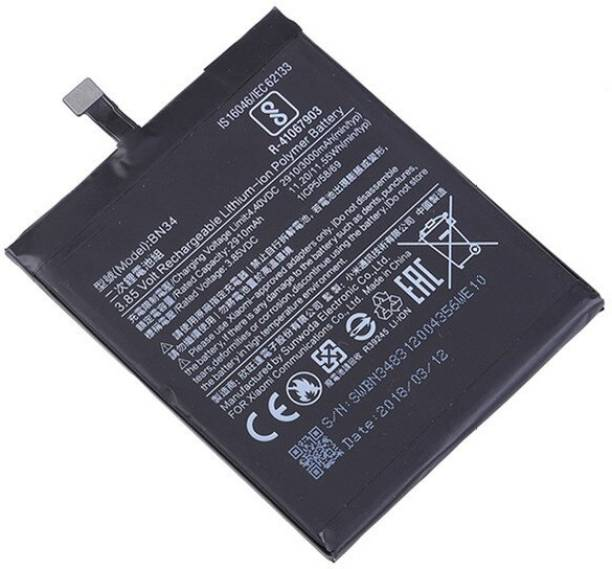 Amnicor Mobile Battery For  MI Xiaomi Redmi 5A BN34