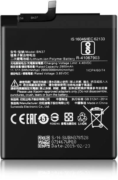 Amnicor Mobile Battery For  MI Xiaomi Redmi 6 BN37