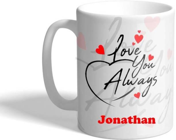 Beautum LOVE YOU ALWAYS Jonathan (350)ml WHITE MUG Ceramic Coffee Mug