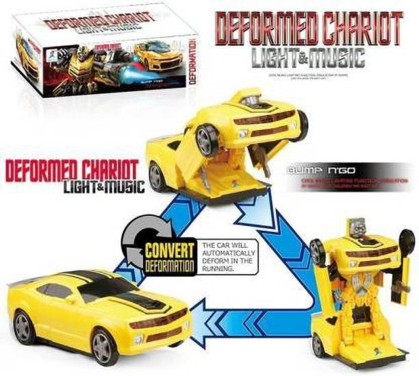 Tenmar Car To Robert Converting Transformer Toy For Kids (Multicolor)