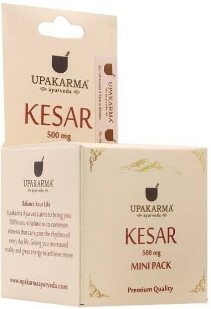 UPAKARMA Certified Natural, Pure and Organic Finest A++ Grade Kashmiri kesar / Saffron 0.5 Gram MiniPack (Pack of 2)