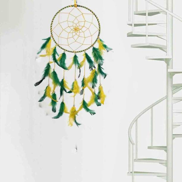 DULI Dream Catcher Wall Hanging Handmade Wall Art for Bedrooms, Office, Balcony, Outdoors, Garden, Home Wall, Hanging Design, Height, Large, Brings Positive Energy Wool, Feather Wool Dream Catcher