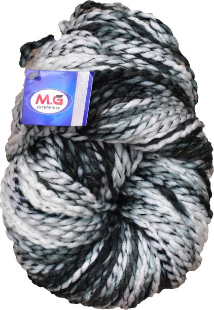 M.G Enterprise Knitting Yarn Sumo Knitting Yarn Thick Chunky Wool, Extra Soft Thick Grey 200 gm Best Used with Knitting Needles, Crochet Needles Wool Yarn for Knitting.