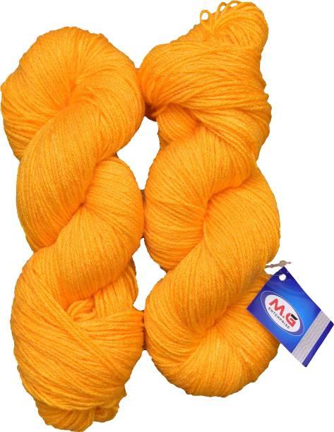 M.G Enterprise Knitting Yarn Martina Wool, Crave Wool Yellow 200 gm Best Used with Knitting Needles, Crave Wool Crochet Needles Wool Yarn for Knitting.