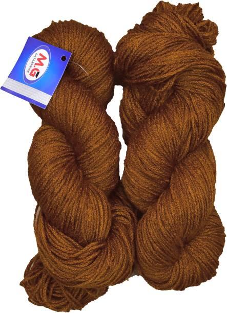 M.G Enterprise Knitting Yarn Martina Wool, Crave Wool Brown 200 gm Best Used with Knitting Needles, Crave Wool Crochet Needles Wool Yarn for Knitting.