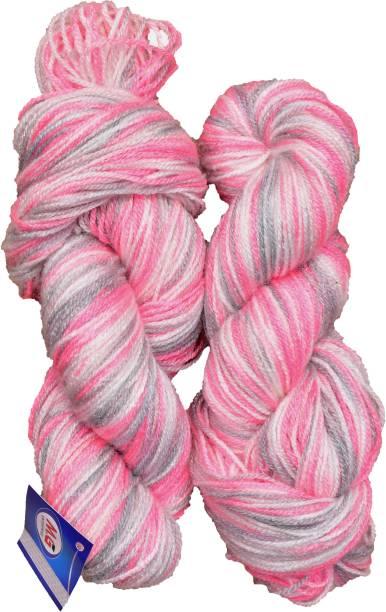 M.G Enterprise Knitting Yarn Multi Wool, Pink Grey 200 gm Best Used with Knitting Needles, Crochet Needles Wool Yarn for Knitting.