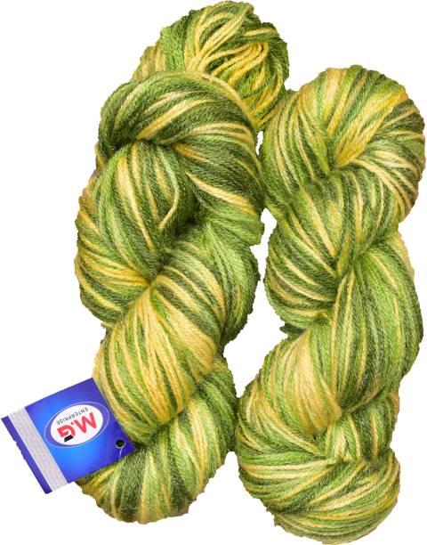 M.G Enterprise Knitting Yarn Multi Wool, Mehndi 200 gm Best Used with Knitting Needles, Crochet Needles Wool Yarn for Knitting.