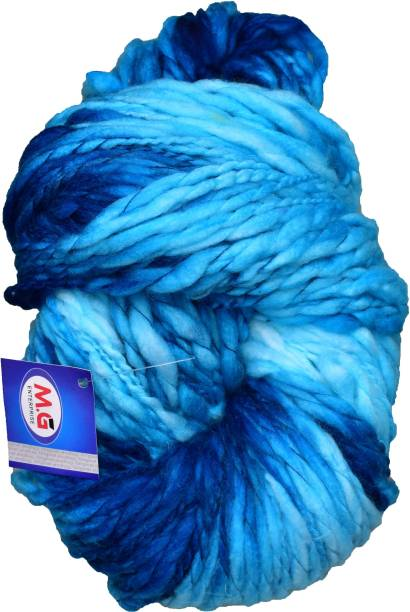 M.G Enterprise Knitting Yarn Sumo Knitting Yarn Thick Chunky Wool, Extra Soft Thick Blue 200 gm Best Used with Knitting Needles, Crochet Needles Wool Yarn for Knitting.