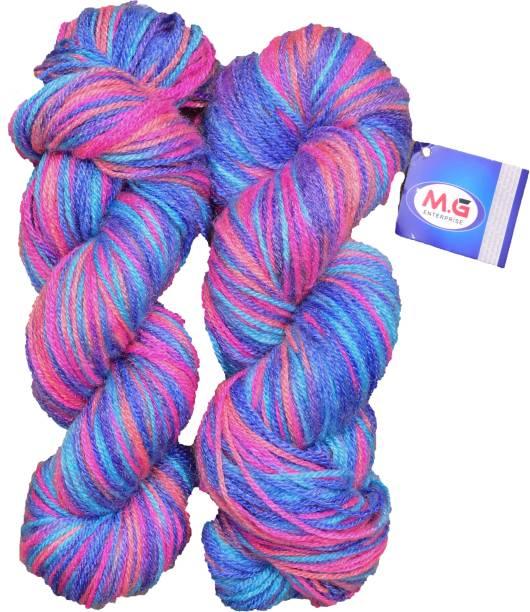 M.G Enterprise Knitting Yarn Multi Wool, Primerose 200 gm Best Used with Knitting Needles, Crochet Needles Wool Yarn for Knitting.