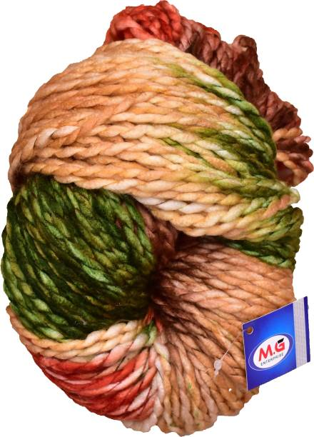M.G Enterprise Knitting Yarn Sumo Knitting Yarn Thick Chunky Wool, Extra Soft Thick Army 200 gm Best Used with Knitting Needles, Crochet Needles Wool Yarn for Knitting.