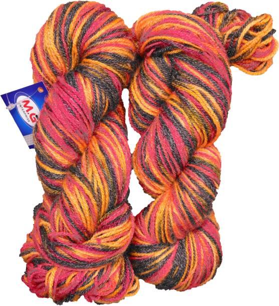 M.G Enterprise Knitting Yarn Multi Wool, Rowan 200 gm Best Used with Knitting Needles, Crochet Needles Wool Yarn for Knitting.