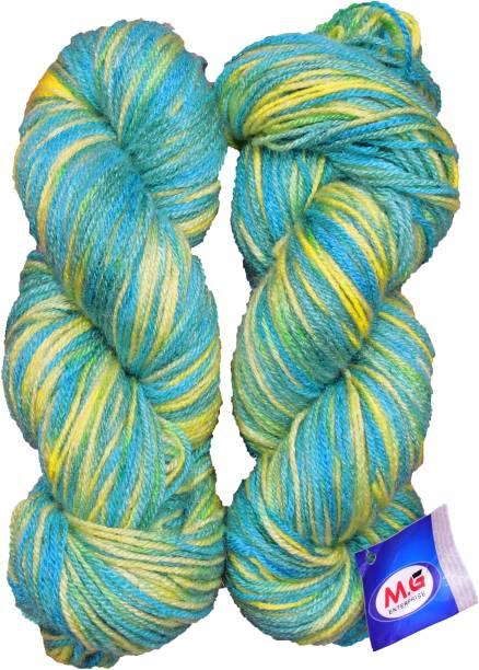 M.G Enterprise Knitting Yarn Multi Wool, Green 200 gm Best Used with Knitting Needles, Crochet Needles Wool Yarn for Knitting.