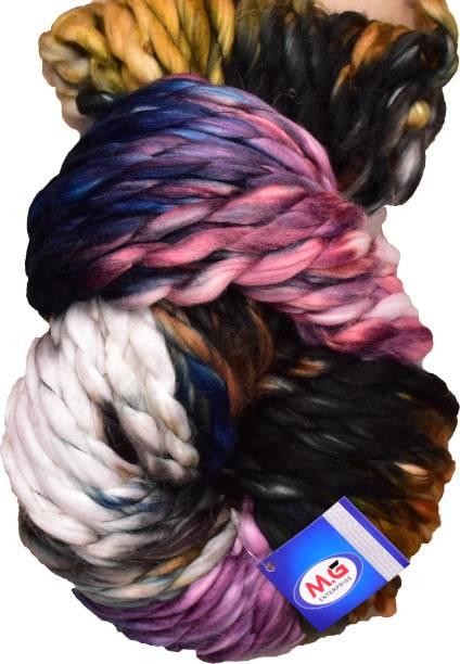 M.G Enterprise Knitting Yarn Jumbo Knitting Yarn Thick Chunky Wool, Extra Soft Thick Rusty 200 gm Best Used with Knitting Needles, Crochet Needles Wool Yarn for Knitting.