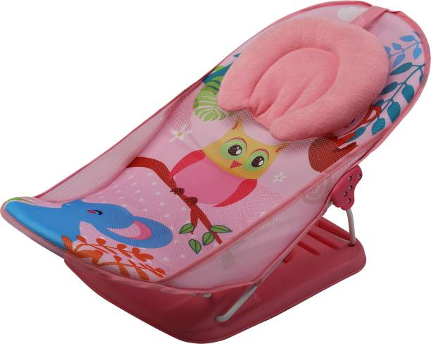 LuvLap Jungle Tales Baby Bather for newborn & infants, Compact & Foldable, 0-9 months