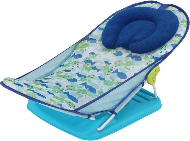 LuvLap Friendly Turtle Baby Bather for newborn & infants, Compact & Foldable, 0-9 months