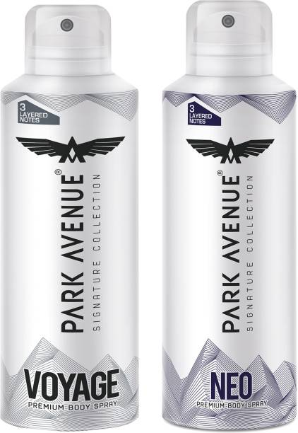 PARK AVENUE Signature Collection Voyage and Neo Deodorant Spray  -  For Men