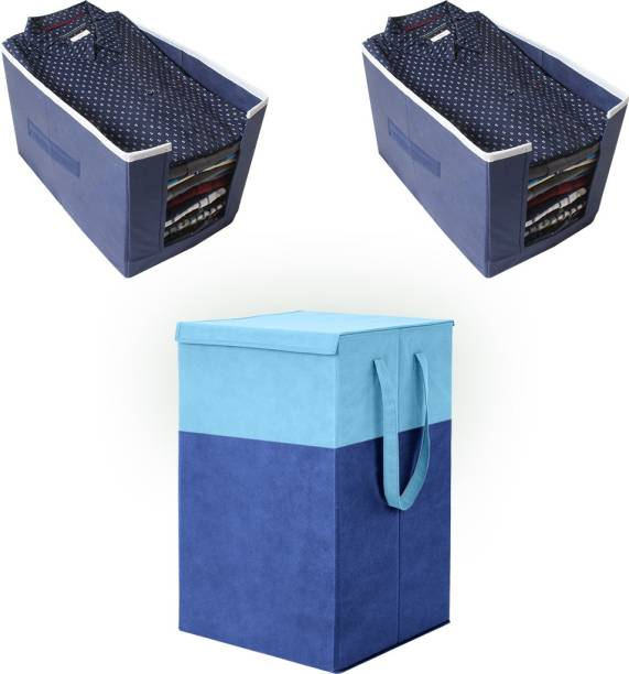 Flipkart SmartBuy 75 L Blue Laundry Stool/Storage
