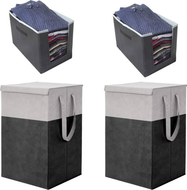 Flipkart SmartBuy 75 L Black Laundry Stool/Storage