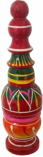 salvusappsolutions Wooden Handmade Sindoor Box (Red, 17x4x4cm) Decorative Showpiece  -  17 cm