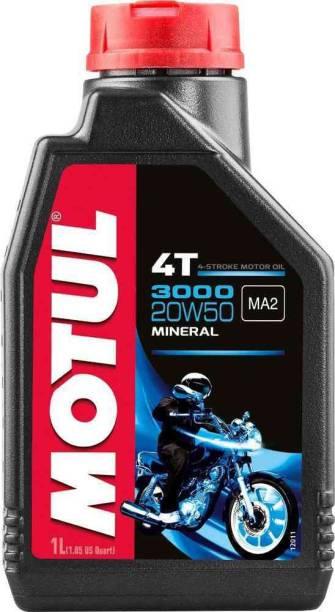 MOTUL 3000 4T PLUS 20W40 HC Tech Engine Oil for Bikes Engine Oil Synthetic Blend Engine Oil