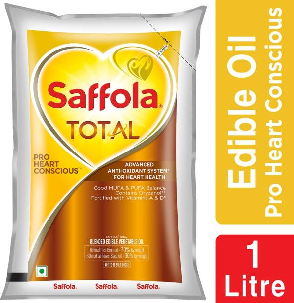 Saffola Total-Pro Heart Conscious Edible Oil Blended Oil Pouch