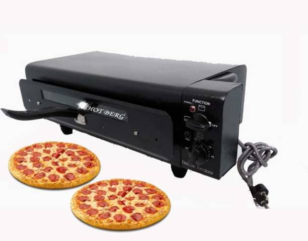 HOT BERG Automatic Timer & Heat Controller Extra Big XXL Size 2 Pizza Set One Time Cooking Electric Tandoor Electric Tandoor