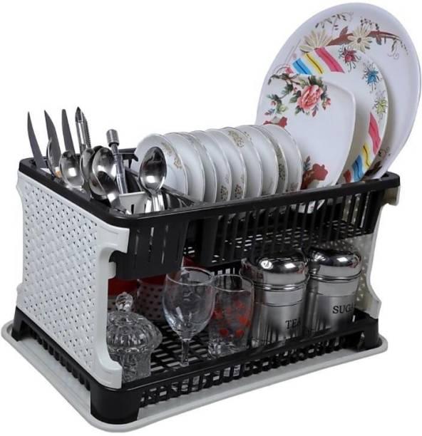 HUMBLE KART Kitchen Organiser Rack Plastic Kitchen Rack (Black) Cutlery Kitchen Rack