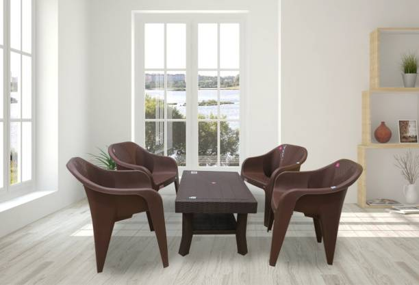 AVRO furniture Brown Plastic Table & Chair Set