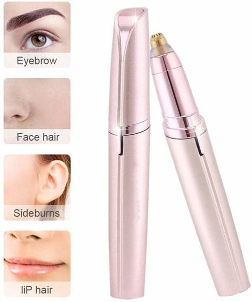 Painless Portable Eyebrow; Face; Lips; Nose Hair Removal Electric Trimmer with Light for Women Cordless Epilator
