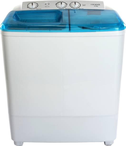 Croma 6.5 kg Semi Automatic Top Load White