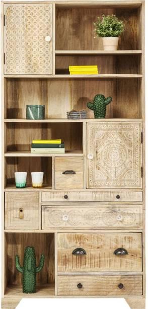THE ATTIC Solid Wood Semi-Open Book Shelf