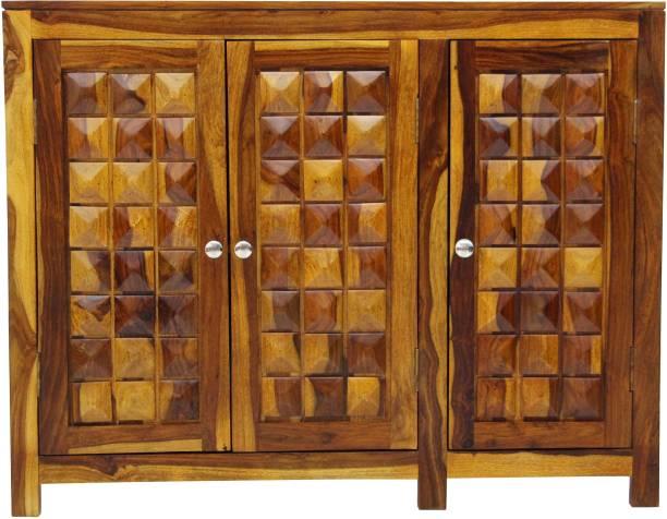 TimberTaste DIAMOND-SB-NT Solid Wood Crockery Cabinet