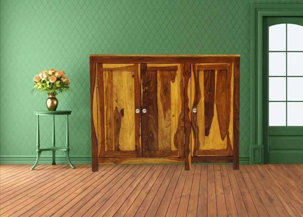 TimberTaste NORA-SB-NT Solid Wood Crockery Cabinet