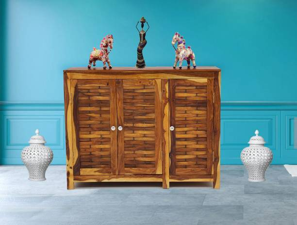 TimberTaste JOHN-SB-NT Solid Wood Crockery Cabinet