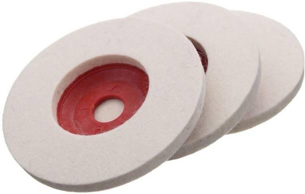 tool trust 3 pcs 100mm 4inch wool Buffing Angle Grander felt polishing Disc pad polishing wheel Glass Polisher