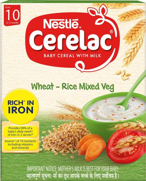 Nestle Cerelac Wheat-Rice Mixed Vegetable Cereal